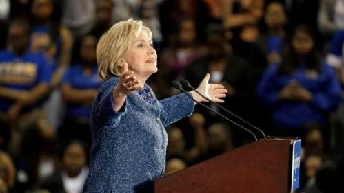 Democratic presidential candidate Hillary Rodham Clinton speaks at Fisk University Friday, Nov. 20, 2015, in Nashville, Tenn. (AP Photo/Mark Humphrey)