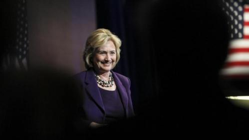 Democratic presidential candidate Hillary Clinton smiles at the at New Hampshire Democrats party's annual dinner in Manchester, N.H., Sunday, Nov. 29, 2015. (AP Photo/Cheryl Senter)