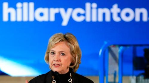 Democratic presidential candidate Hillary Clinton speaks during a campaign stop in Sioux City, Iowa, Friday, Dec. 4, 2015. Clinton said the mass killing in California was heightening the need for intelligence sharing and military strikes in places where extreme elements have taken hold. (AP Photo/Nati Harnik)