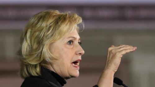 Democratic presidential candidate Hillary Clinton speaks during a campaign stop in Sioux City, Iowa, Friday, Dec. 4, 2015. Clinton said Friday the mass killing in California was heightening the need for intelligence sharing and military strikes in places where extreme elements have taken hold. (AP Photo/Nati Harnik)