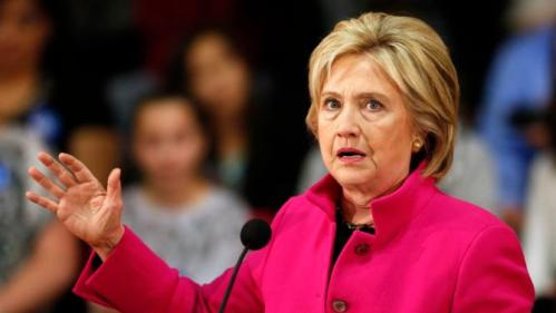 Democratic presidential candidate Hillary Clinton speaks about recent comments from Republican presidential candidate Donald Trump during a campaign stop Tuesday, Dec. 8, 2015, in Salem, N.H. (AP Photo/Jim Cole)