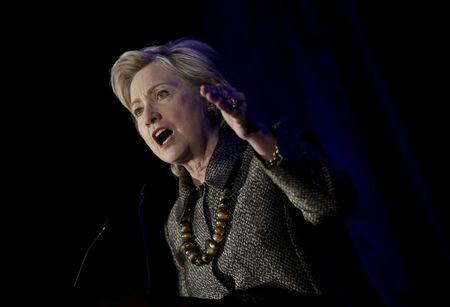 Democratic U.S. presidential candidate Hillary Clinton addresses the 2015 National Immigrant Integration Conference in the Brooklyn borough of New York City, December 14, 2015. REUTERS/Mike Segar