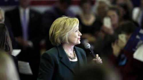 Democratic presidential candidate Hillary Clinton speaks during a town hall meeting Wednesday, Dec. 16, 2015, in Mason City, Iowa. (AP Photo/Charlie Neibergall)