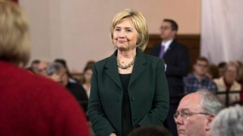 Democratic presidential candidate Hillary Clinton listens to a question at a campaign event Wednesday, Dec. 16, 2015, at the Old Brick Church in Iowa City, Iowa. (AP Photo/Scott Morgan)