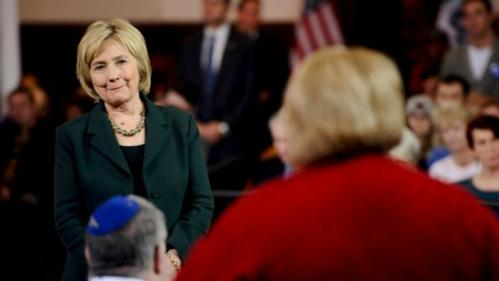 U.S. Democratic presidential candidate Hillary Clinton listens to a question from the audience during a town hall event at Old Brick Church and Community Center in Iowa City, Iowa, December 16, 2015. REUTERS/Mark Kauzlarich