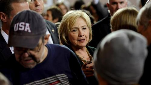 U.S. Democratic presidential candidate Hillary Clinton greets supporters during a town hall event at Old Brick Church and Community Center in Iowa City, Iowa, December 16, 2015. REUTERS/Mark Kauzlarich