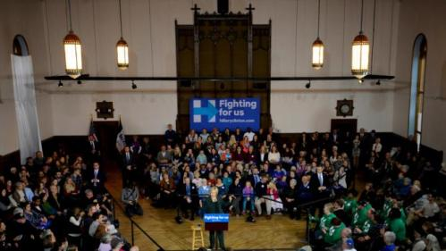 U.S. Democratic presidential candidate Hillary Clinton speaks during a town hall event at Old Brick Church and Community Center in Iowa City, Iowa, December 16, 2015. REUTERS/Mark Kauzlarich