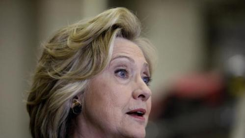 Democratic presidential candidate Hillary Clinton speaks during a campaign stop at the Osage Public Safety Center, Tuesday, Jan. 5, 2016, in Osage, Iowa. (AP Photo/Charlie Neibergall)