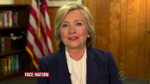 Presidential candidate Hillary Clinton maintains she never sent classified information via email as Secretary of State, as questions arise over her instruction to have a talking points memo sent to her in 2011 by a nonsecure system after it could not be sent by secure fax. Rough Cut (no reporter narration).