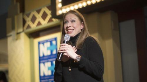 Chelsea Clinton, daughter of Democratic presidential candidate Hillary Clinton, speaks during a campaign stop for her mother, Tuesday, Jan. 12, 2016, at the Millyard Museum in Manchester, N.H. (AP Photo/John Minchillo)