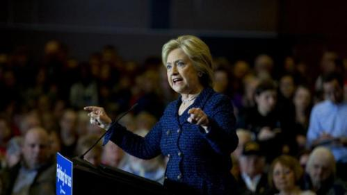 Democratic presidential candidate Hillary Clinton speaks during a rally on the campus of Simpson College Thursday, Jan. 21, 2016, in Indianola, Iowa. (AP Photo/Jae C. Hong)