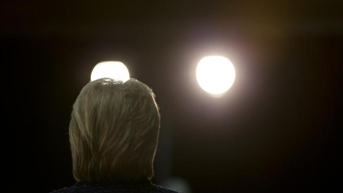 Democratic presidential candidate Hillary Clinton speaks during a rally Thursday, Jan. 21, 2016, in Vinton, Iowa. (AP Photo/Jae C. Hong)