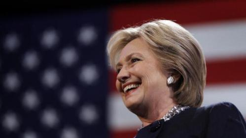 Democratic presidential candidate Hillary Clinton smiles during a campaign stop Friday, Jan. 22, 2016, in Rochester, N.H. (AP Photo/Matt Rourke)