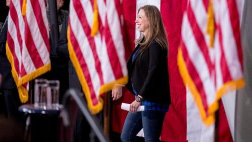 Chelsea Clinton arrives for a rally for Democratic presidential candidate Hillary Clinton at Iowa State University in Ames, Iowa Saturday, Jan. 30, 2016. (AP Photo/Andrew Harnik)