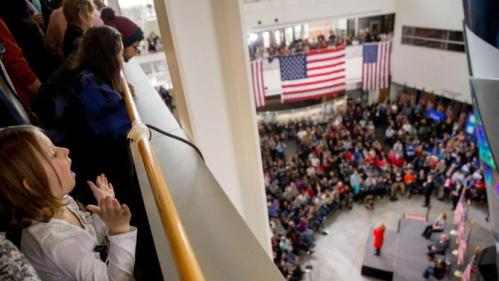 Democratic presidential candidate Hillary Clinton speaks at a rally at Iowa State University in Ames, Iowa Saturday, Jan. 30, 2016. (AP Photo/Andrew Harnik)