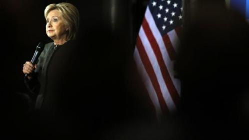 Democratic presidential candidate Hillary Clinton speaks during a campaign stop, Wednesday, Feb. 3, 2016, in Dover, N.H. (AP Photo/Matt Rourke)