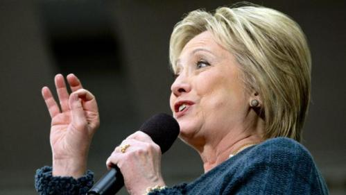 Democratic presidential candidate Hillary Clinton speaks at a campaign event at Rundlett Middle School, in Concord, N.H., Saturday Feb. 6, 2016. (AP Photo/Jacquelyn Martin)