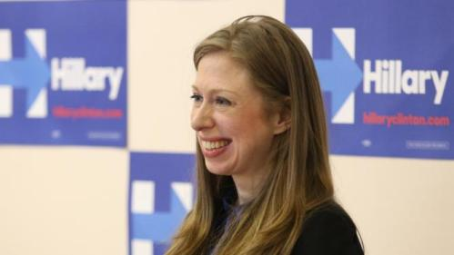 Chelsea Clinton smiles as she speaks at the Murtis H. Taylor Community Center Monday, Feb. 15, 2016, in Cleveland. Clinton made a campaign stop for her mother, Democratic presidential candidate Hillary Clinton, to talk with voters. (AP Photo/Aaron Josefczyk)
