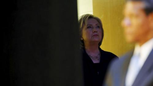 U.S. Democratic presidential candidate Hillary Clinton waits to take the stage with local officials at a town hall meeting for supporters at Royal Baptist Church Family Life Center in North Charleston, South Carolina February 25, 2016. REUTERS/Jonathan Ernst