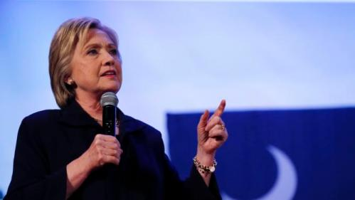 Democratic presidential candidate Hillary Clinton speaks at a campaign event at the Royal Baptist Church Family Life Center in North Charleston, S.C., Thursday, Feb. 25, 2016. (AP Photo/Gerald Herbert)