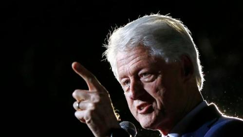 """Former President Bill Clinton speaks on behalf of his wife, Democratic presidential candidate Hillary Clinton at a """"Get Out The Vote Rally"""" in Columbia, S.C., Friday, Feb. 26, 2016. (AP Photo/Gerald Herbert)"""