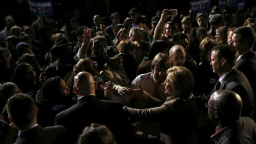 Democratic U.S. presidential candidate Hillary Clinton greets supporters after a rally at an outdoor plaza in Columbia, South Carolina February 26, 2016. REUTERS/Jonathan Ernst