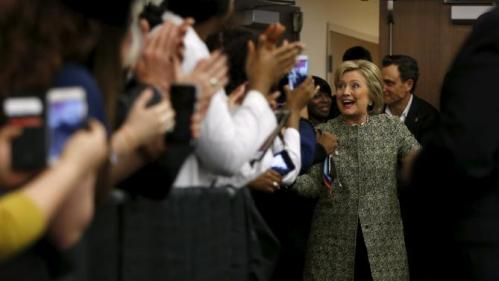 U.S. Democratic presidential candidate Hillary Clinton rallies with supporters at Meharry Medical College in Nashville, Tennessee, February 28, 2016. REUTERS/Jonathan Ernst