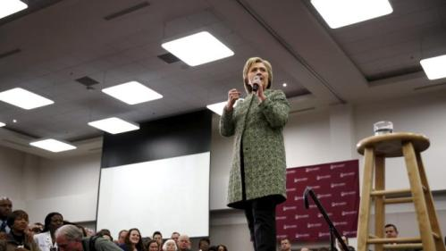U.S. Democratic presidential candidate Hillary Clinton speaks to supporters at Meharry Medical College in Nashville, Tennessee, February 28, 2016. REUTERS/Jonathan Ernst