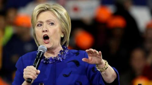 Democratic presidential candidate Hillary Clinton speaks at a campaign rally Wednesday, March 2, 2016, in New York. (AP Photo/Frank Franklin II)