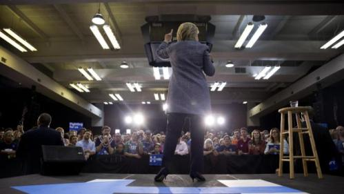 Democratic presidential candidate Hillary Clinton speaks during a campaign event at the Grady Cole Center in Charlotte, N.C., Monday, March 14, 2016. (AP Photo/Carolyn Kaster)