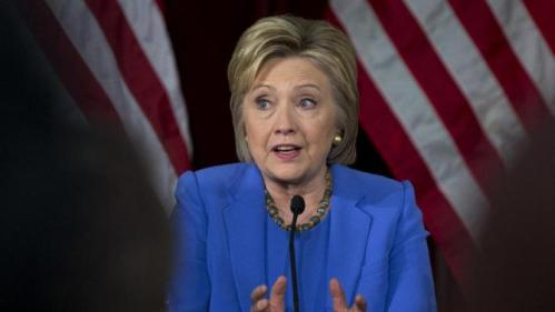 Democratic presidential candidate Hillary Clinton speaks during a roundtable with Muslim community leaders at the University of Southern California in Los Angeles, Thursday, March 24, 2016. (AP Photo/Carolyn Kaster)