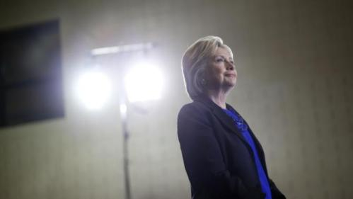 Democratic presidential candidate Hillary Clinton waits to be introduced before speaking at the Mary Ryan Boys and Girls Club in Milwaukee, Wis., Monday, March 28, 2016. (AP Photo/Patrick Semansky)