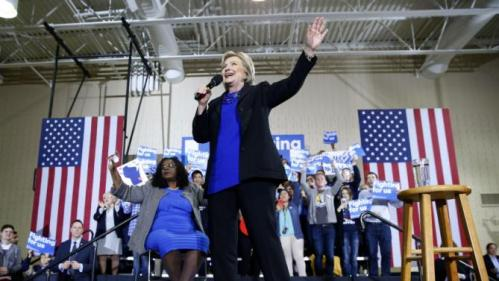 Democratic presidential candidate Hillary Clinton speaks at the Mary Ryan Boys and Girls Club in Milwaukee, Wis., Monday, March 28, 2016. (AP Photo/Patrick Semansky)