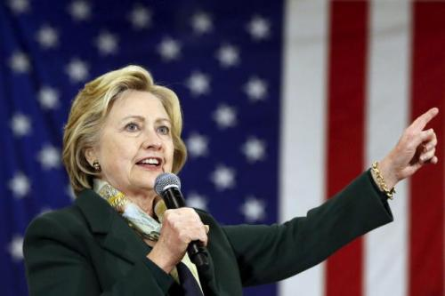 Democratic U.S. presidential candidate Hillary Clinton speaks during a campaign event at the Monroe Community College in Rochester, New York April 8, 2016. REUTERS/Shannon Stapleton